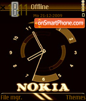 Nokia Clock theme screenshot
