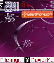 Purple Design theme screenshot