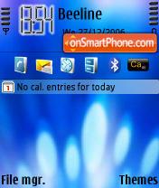 Blue Light theme screenshot