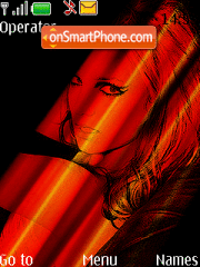 Britney Xpress Red Music theme screenshot