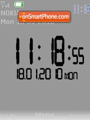 Swf clock es el tema de pantalla