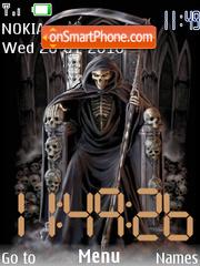Scary swf clock es el tema de pantalla