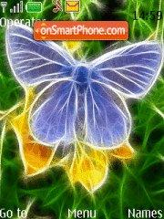 Neon Butterfly theme screenshot
