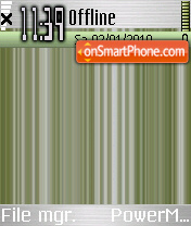 Green Nokia 01 theme screenshot