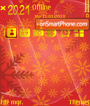 Snowflakesred fp1 es el tema de pantalla