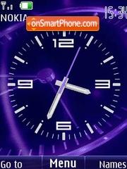 Analog clock animated theme screenshot