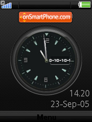 Swf Clock W580 theme screenshot