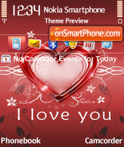 I love you 24 es el tema de pantalla