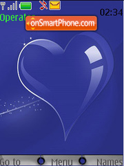 Blue Glass Heart theme screenshot