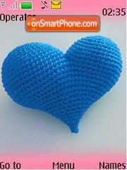 Blue Heart Swf Clock theme screenshot