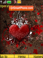 Brown Heart theme screenshot