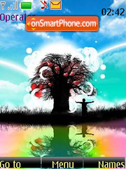 Colourful Valentines Day Tree tema screenshot