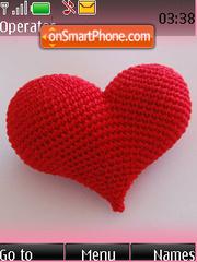 Red Heart Swf Clock theme screenshot