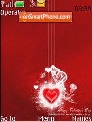 Red Music Heart theme screenshot