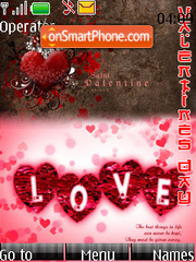 Valentines Love Essence Swf Clock theme screenshot