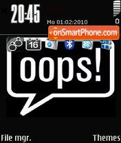 Ooops 01 es el tema de pantalla
