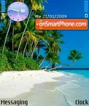Beautiful Beach es el tema de pantalla