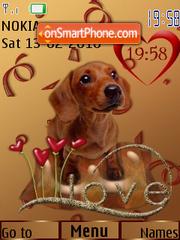 Cute Dog 02 theme screenshot