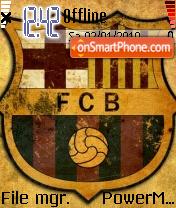 Fc Barcelona 09 theme screenshot
