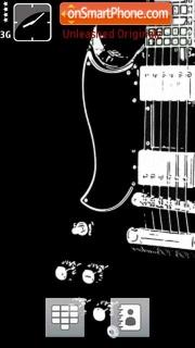 Black Guitar 01 es el tema de pantalla