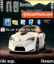 Toyota Sport Car es el tema de pantalla