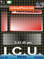ECG Graph SWF Clock theme screenshot