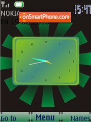 Green Clock SWF theme screenshot