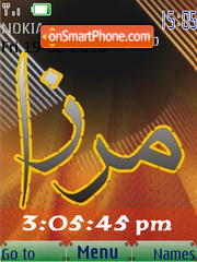 Mirza SWF Clock theme screenshot