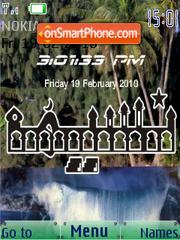 Naseemah SWF Clock es el tema de pantalla