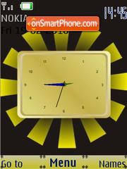 Yellow SWF Clock es el tema de pantalla