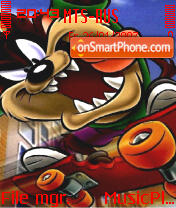 Taz Skating theme screenshot