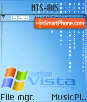 Symbian Vista theme screenshot