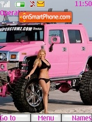 Pink Hummer theme screenshot