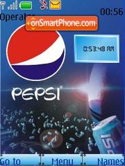 Capture d'écran Pepsi Theme SWF Clock thème