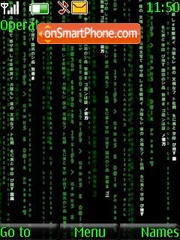The Matrix theme screenshot