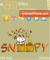 Snoopy (grey-3) theme screenshot