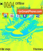 Nike Shoes theme screenshot