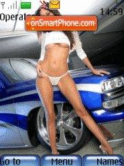 Car and girl es el tema de pantalla