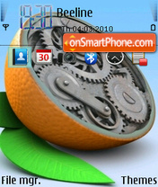 Orange Clock V2 tema screenshot