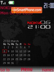 Black Red SWF Calendar es el tema de pantalla