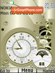 Old SWF Clock es el tema de pantalla