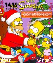 Santa Homer theme screenshot