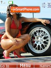 Girls & cars theme screenshot