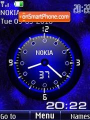 Analog clock blue animated es el tema de pantalla