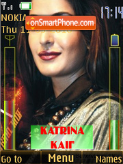 Katrina Kaif Battery & Signal Updater SWF theme screenshot