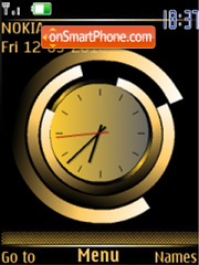 Analog clock gold flash anim theme screenshot