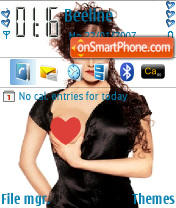 Lady in Black theme screenshot