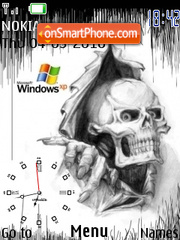 Windows Xp Skull es el tema de pantalla