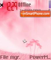 Floral Pink es el tema de pantalla