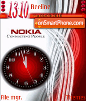 Nokia Clock 01 tema screenshot